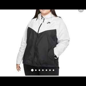 White and Anthracite Nike womens windrunner